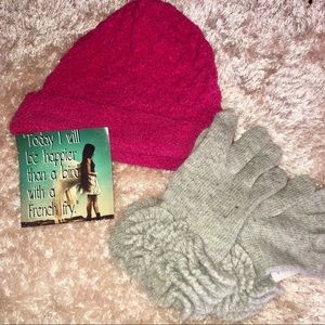 Nine West Accessories - Nine West Terry Knit Pink Beanie